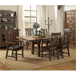 Coaster Padima Extendable Dining Set in Rustic Cognac