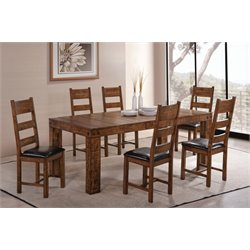 Coaster Murillo 5 Piece Extendable Dining Set in Rustic Honey