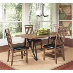 Coaster Ferguson 5 Piece Dining Set in Black and Rustic Taupe