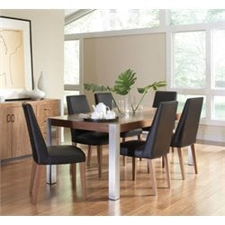 Coaster Faccini 5 Piece Dining Set in Black and Walnut