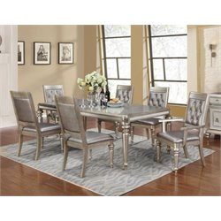 Coaster Danette Dining Set in Metallic Platinum