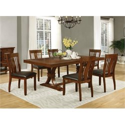 Coaster Abrams 5 Piece Extendable Dining Set in Truffle
