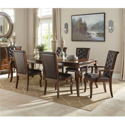 Coaster Williamsburg 7 Piece Dining Set in Roasted Chestnut