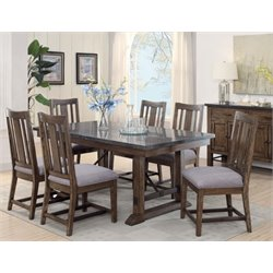 Coaster Willowbrook 5 Piece Dining Set in Chinese Ash