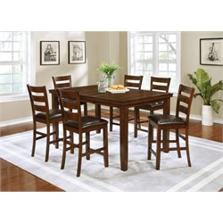 Coaster 5 Piece Counter Height Dining Set in Golden Brown