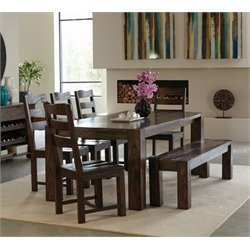 Coaster Calabasas Dining Set in Dark Brown