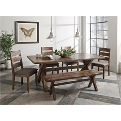 Coaster Dining Set in Knotty Nutmeg