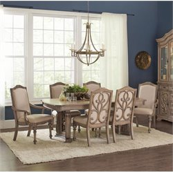 Coaster 5 Piece Dining Set in Antique Linen