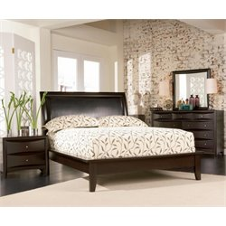 Coaster Phoenix 4 Piece Panel Bedroom Set in Deep Cappuccino