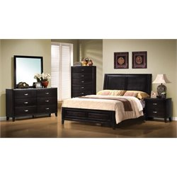 Coaster Nacey King Panel Bedroom Set in Dark Brown