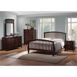 Coaster 5 Piece King Spindle Bedroom Set in Cappuccino