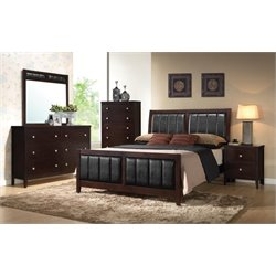 Coaster Carlton Upholstered King Panel Bedroom Set