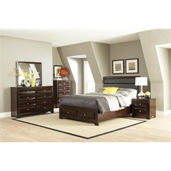 Coaster Jaxson 5 Piece Upholstered Panel Bedroom Set