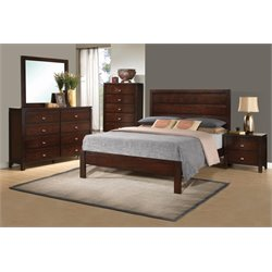 Coaster Cameron King Panel Bedroom Set in Rich Brown