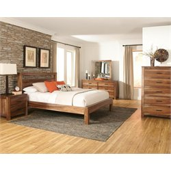 Coaster Peyton 5 Piece Panel Bedroom Set in Natural Brown