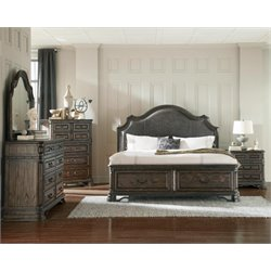 Coaster Carlsbad 5 Piece Upholstered Panel Bedroom Set