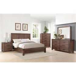 Coaster Lancashire 5 Piece Panel Bedroom Set in Cinnamon