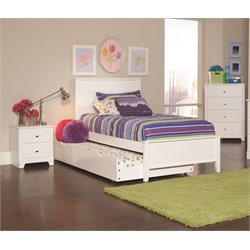 Coaster Ashton 3 Piece Twin Panel Bedroom Set in White