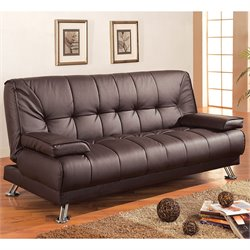 Coaster Furniture Brown Faux Leather Convertible Sofa