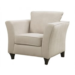 Coaster Velvet Club Arm Chair in Ivory