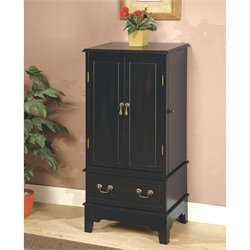 Coaster Five Drawer Jewelry Armoire in Black