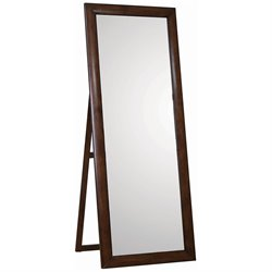 Coaster Standing Portrait Style Floor Mirror in Walnut