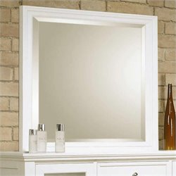 Coaster Sandy Beach Vertical Mirror in White