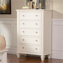 Coaster Sandy Beach 5 Drawer Chest in White