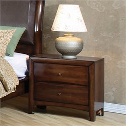 Coaster Hillary and Scottsdale Two Drawer Nightstand in Warm Brown