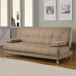 Coaster Fabric Convertible Sofa Bed with Removable Armrests