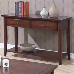 Coaster Whitehall Sofa Table with Shelf & Storage Drawers in Walnut
