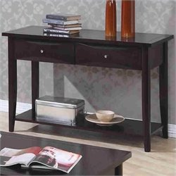 Coaster Whitehall Sofa Table with Shelf & Storage Drawers