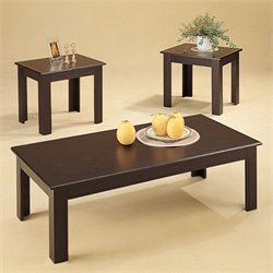 Coaster 3 Piece Black Oak Occasional Table Set