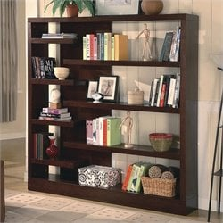 Coaster Wide Semi Backless Bookcase in Cappuccino