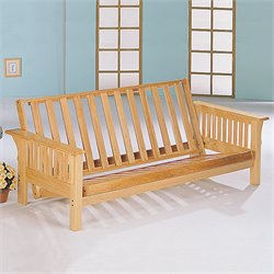 Coaster Mission Style Futon Frame Deluxe in Natural