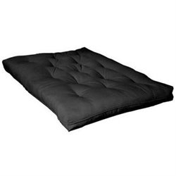 Coaster Six Inch Innerspring Futon Pad in Black