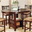 Coaster Lavon Counter Height Dining Table in Warm Brown