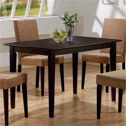 Coaster Hyde Rectangular Casual Dining Leg Dining Table in Cappuccino