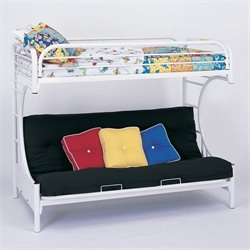 C Style Metal Twin over Futon Bunk Bed