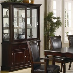 Coaster Ramona Formal Dining Room China Cabinet in Walnut