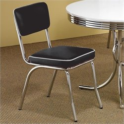 Coaster Cleveland Vinyl Upholstered Dining Chair in Black