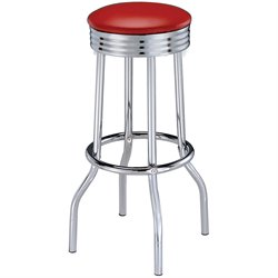 Cleveland Chrome Plated Soda Fountain Bar Stool