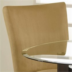 Coaster Bloomfield Parson  Dining Chair with Gold Ochre Microfiber