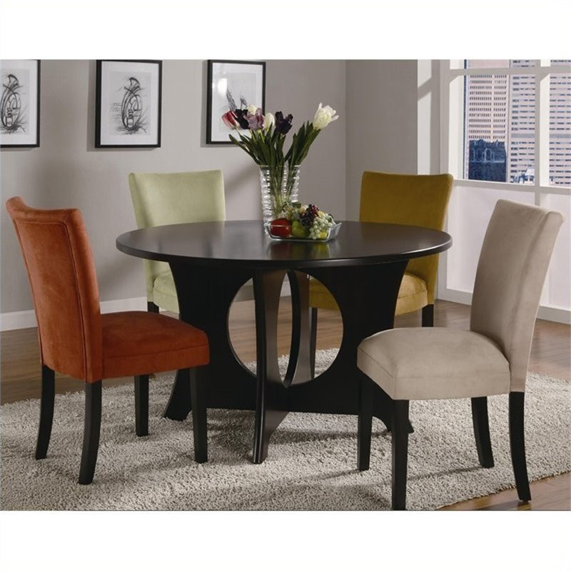 Coaster Bloomfield Microfiber Parsons Dining Chair in ...