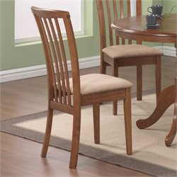 Coaster Brannan Slat Back Dining Chair in Warm Maple