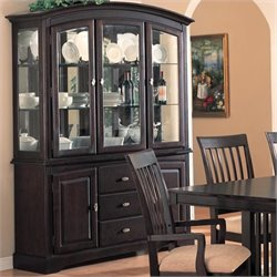 Coaster Monaco China Cabinet in Rich Dark Cappuccino