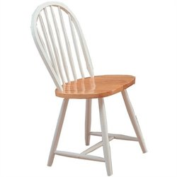 Coaster Damen Windsor Dining Chair in Warm White and Natural  Finish