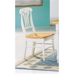 Coaster Damen Lyre Back Dining Chair in Warm White and Natural  Finish