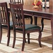 Coaster Newhouse  Dining Chair with Faux Leather Seat in Cherry Finish