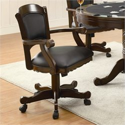 Coaster Turk Arm Chair with Casters in Tobacco